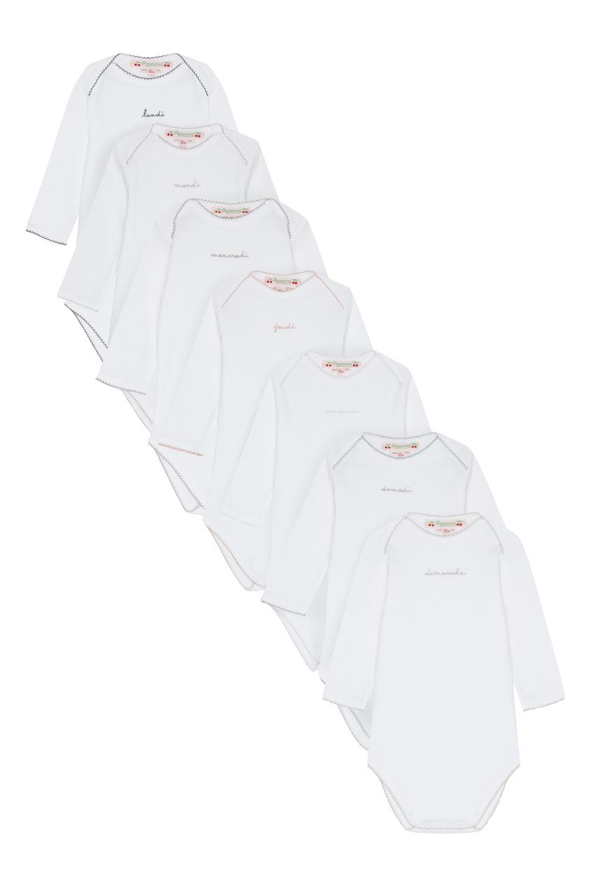 Белое боди с коротким рукавом от Bonpoint