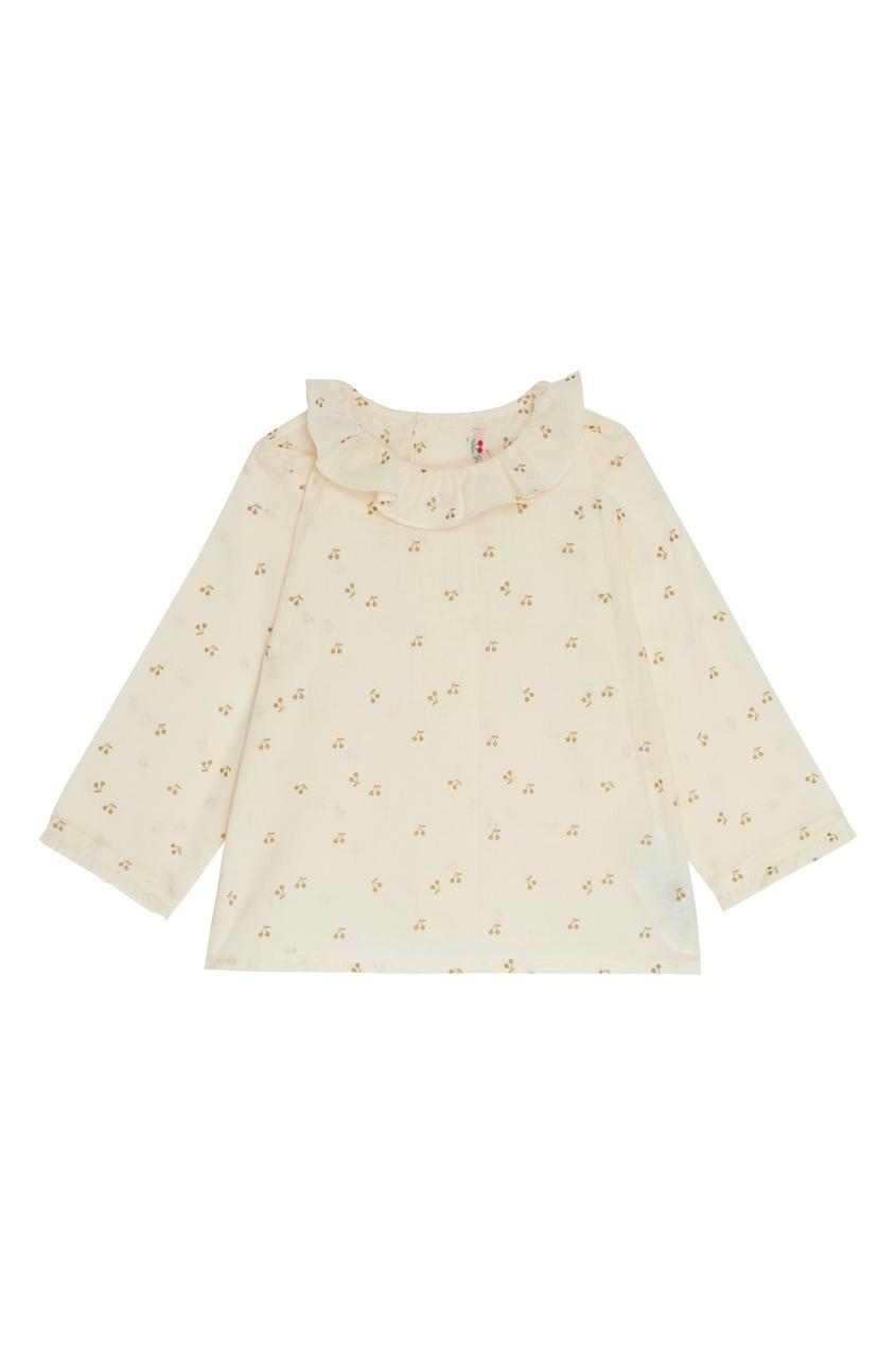 Белая блуза с узором Bonpoint