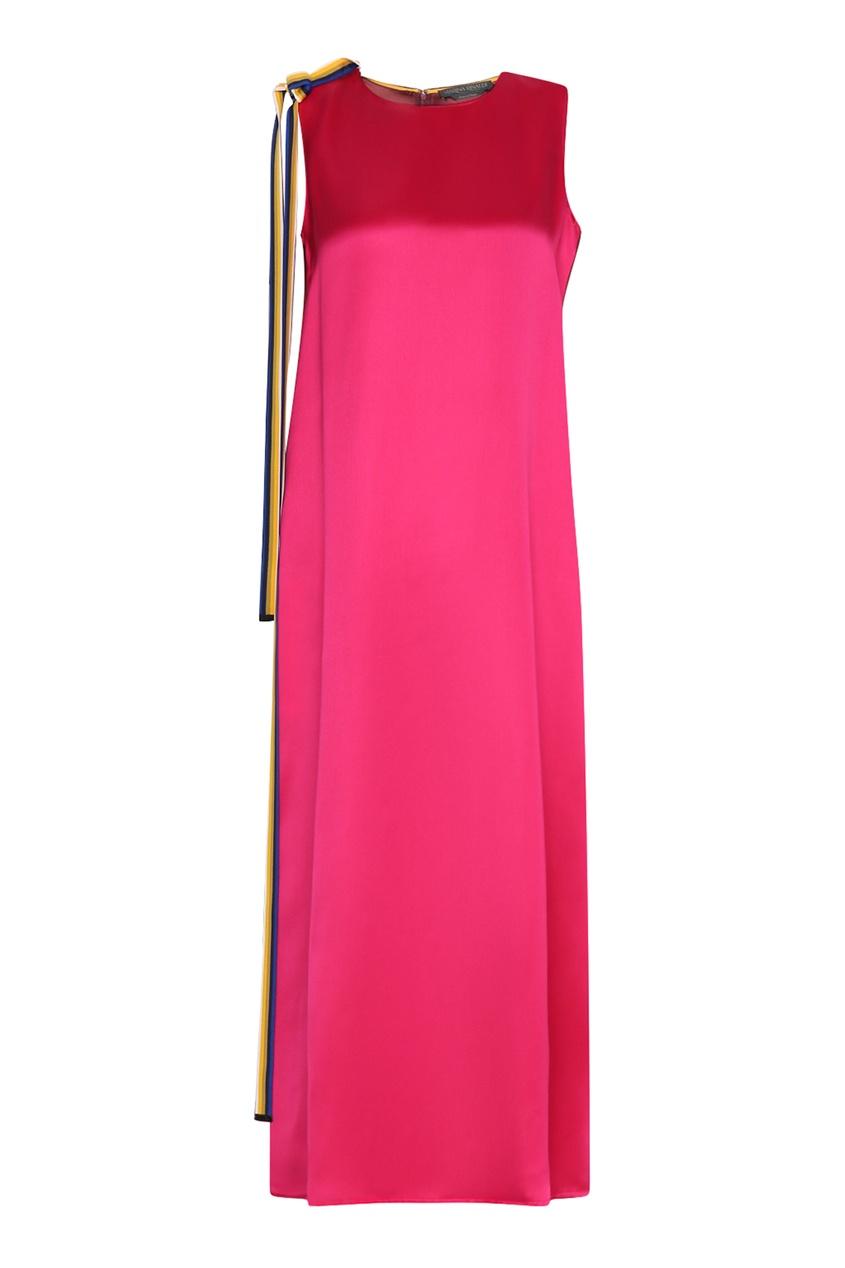 женское платье макси marina rinaldi, розовое