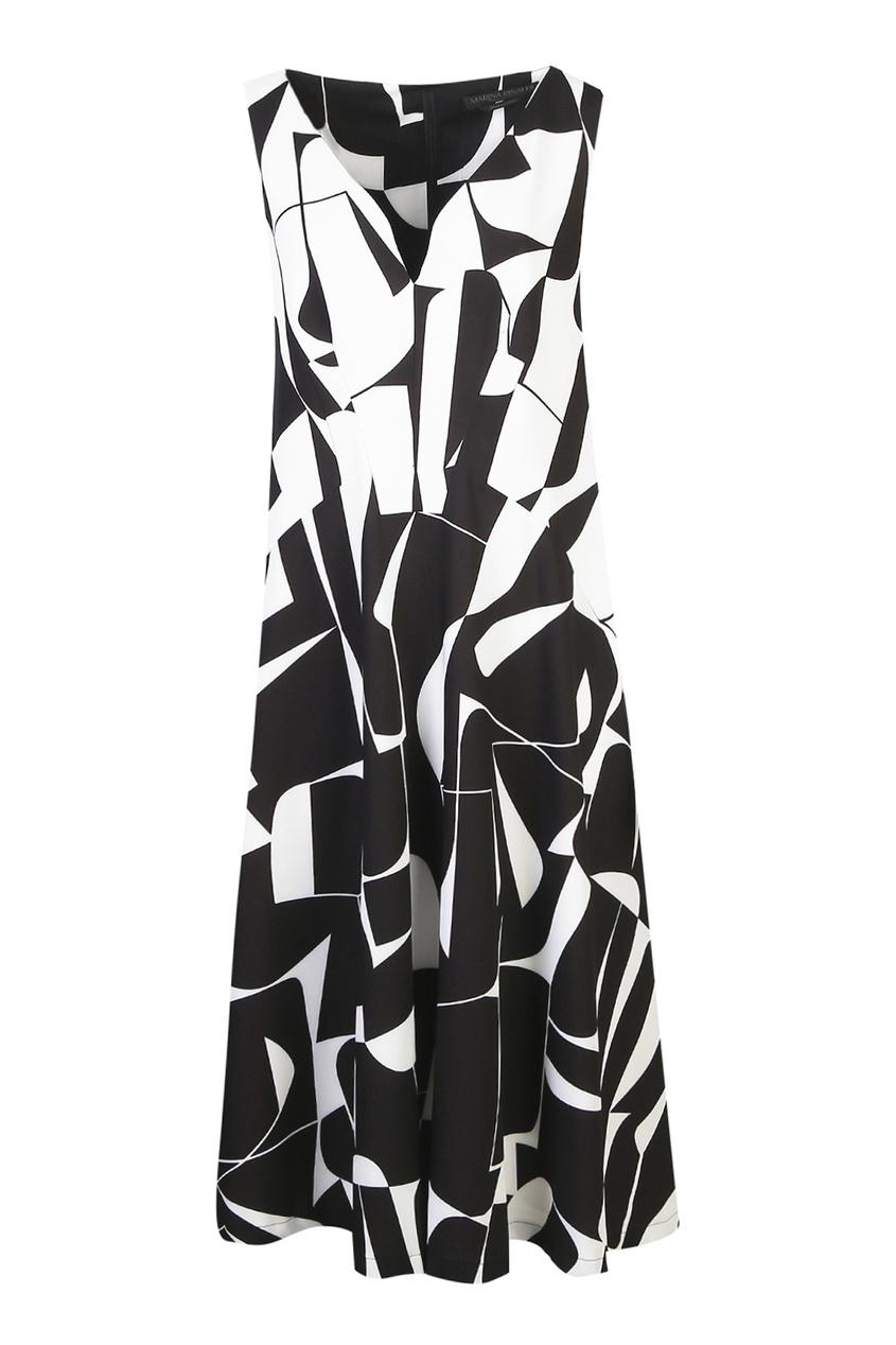 Черно-белое платье от Marina Rinaldi