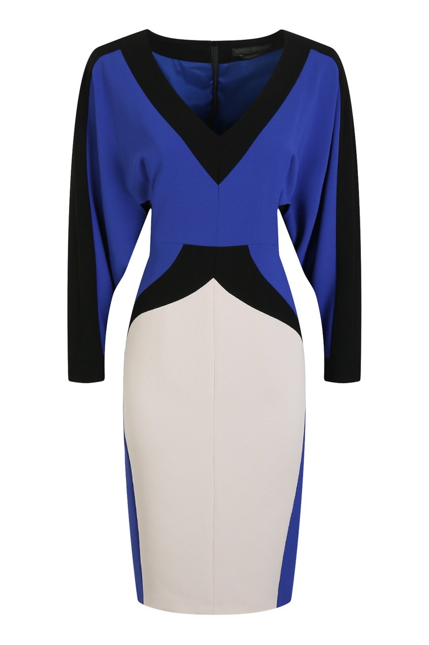 женское платье marina rinaldi, синее