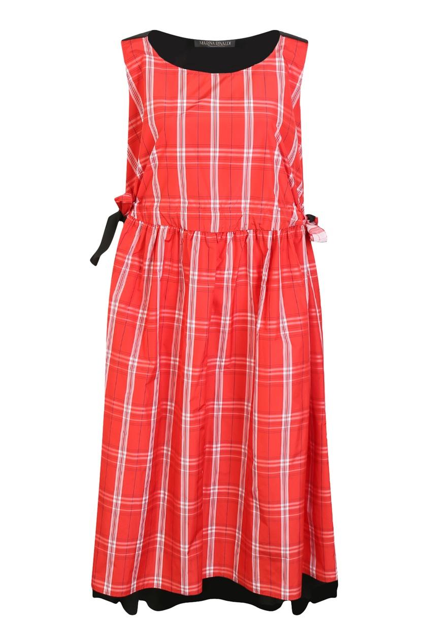 женское вязаные платье marina rinaldi, красное