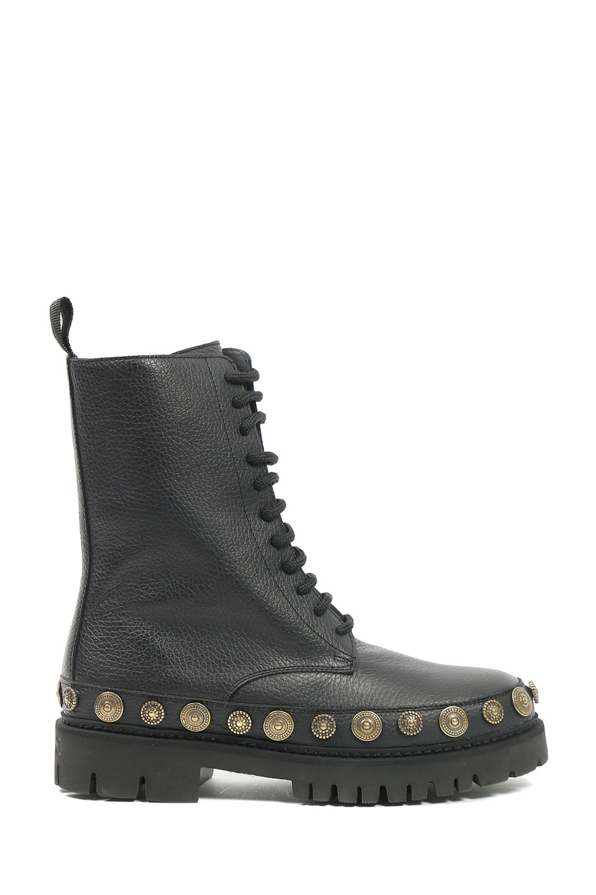 женские ботинки moschino, черные