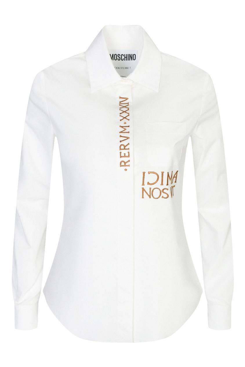 женская рубашка moschino, белая