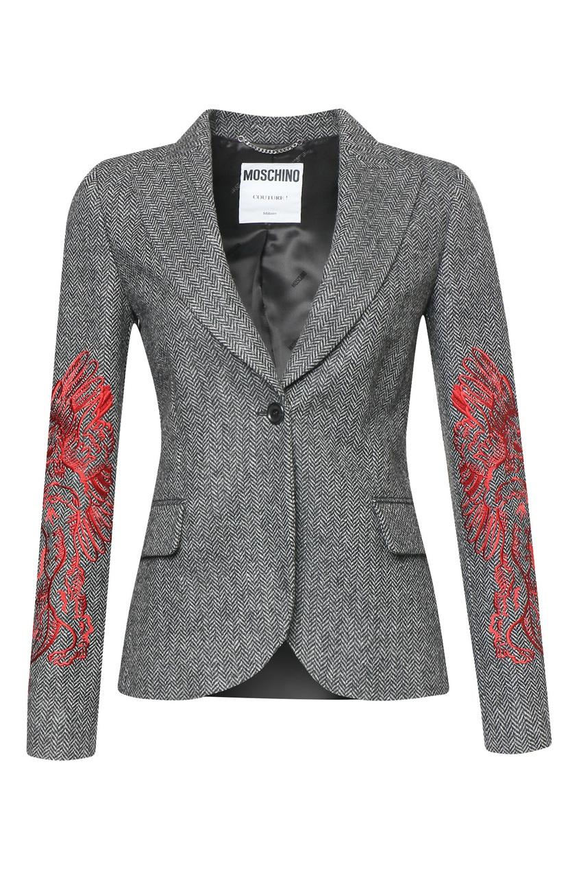 женский жакет moschino, серый