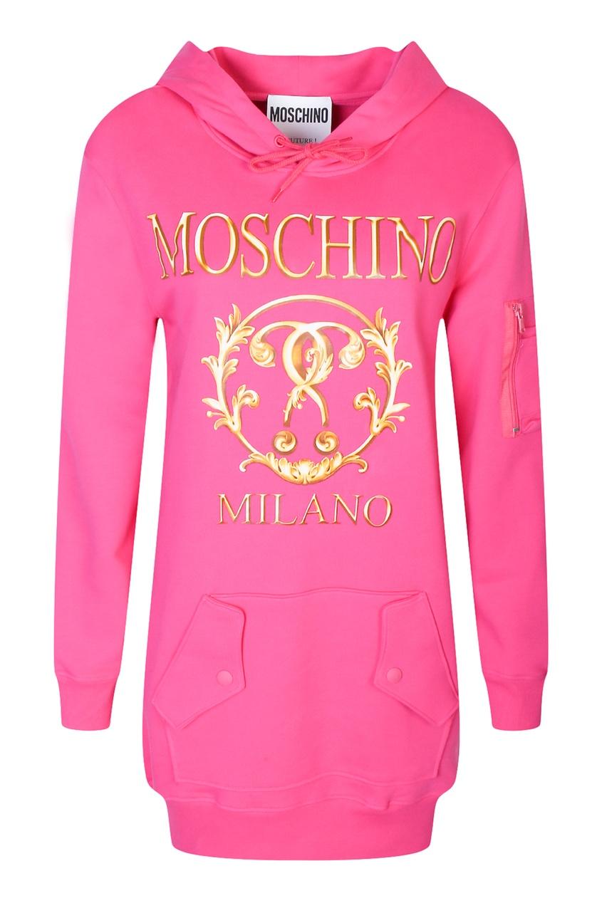женское платье moschino, розовое
