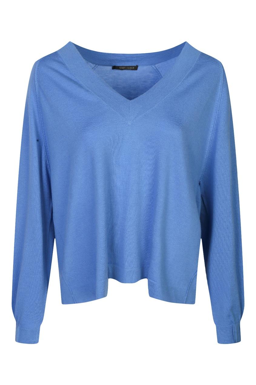 женский пуловер marina rinaldi, синий