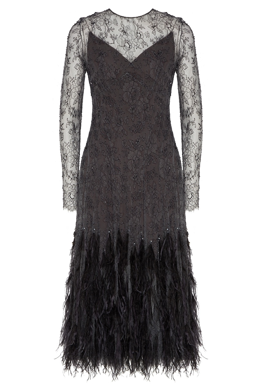 женское кружевные платье yana dress, черное