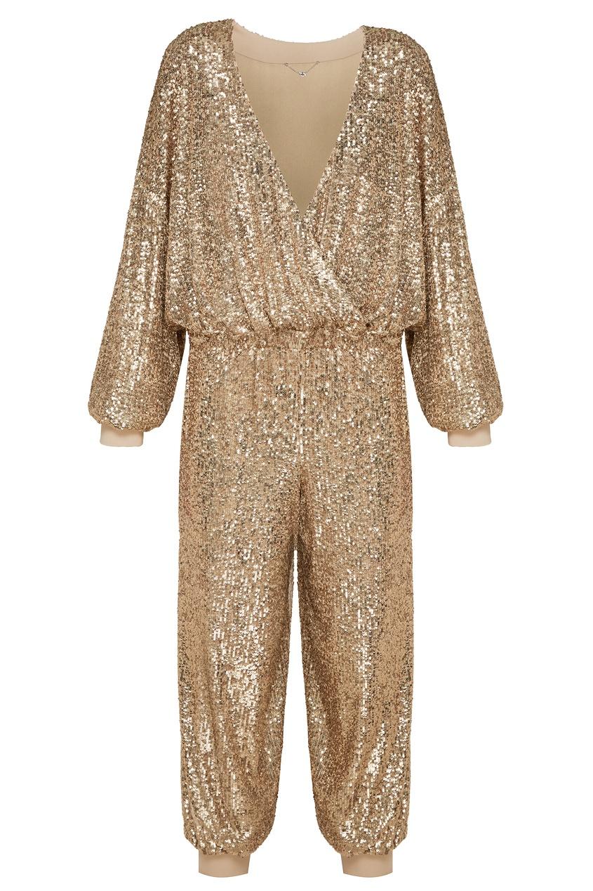 женский комбинезон yana dress, золотой