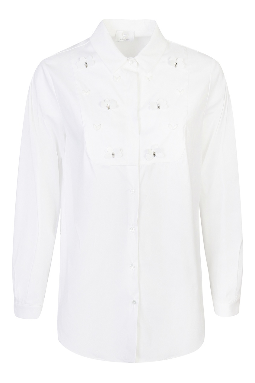 женская рубашка marina rinaldi, белая