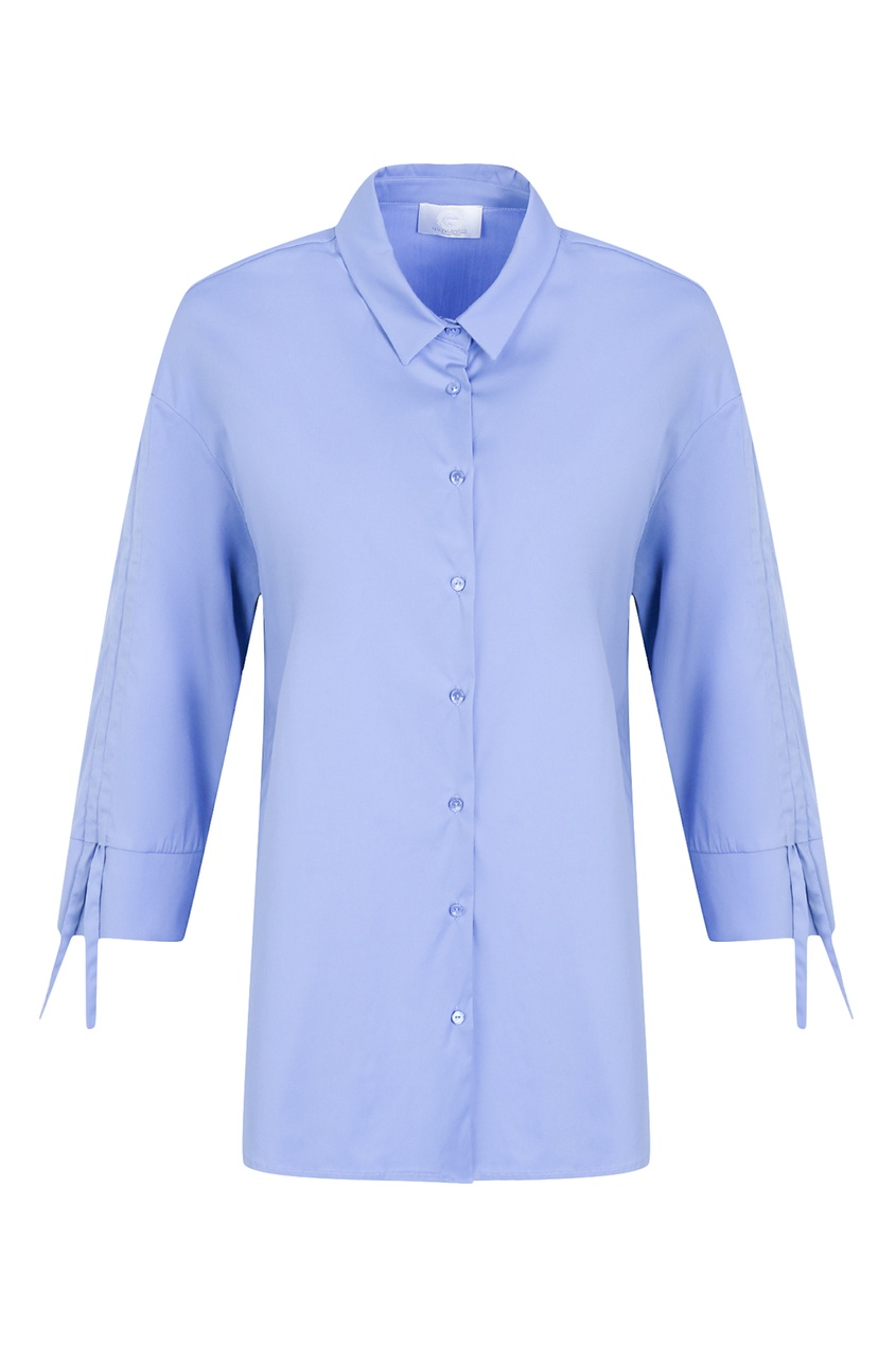 женская рубашка с рукавом 3/4 marina rinaldi, синяя