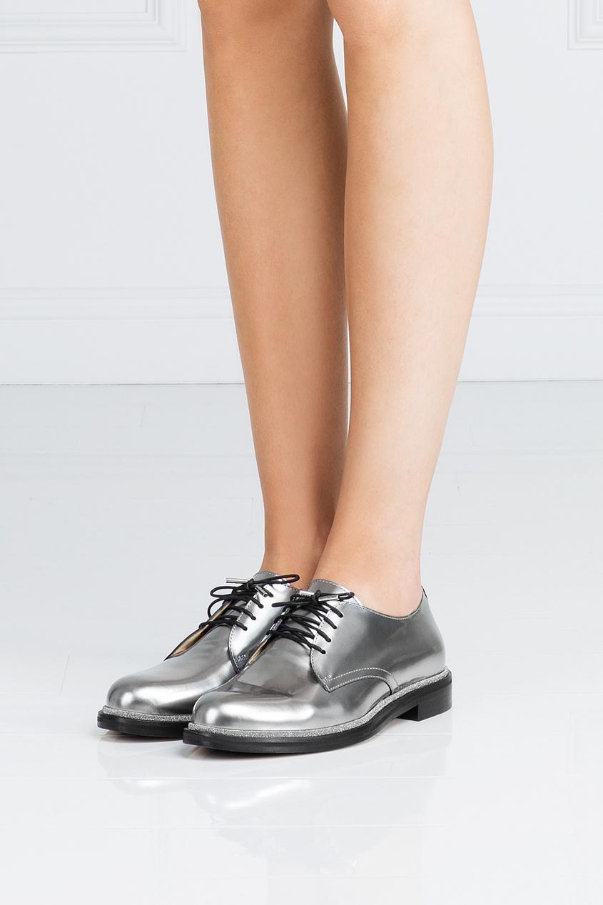 Ботинки из металлизированной кожи Bran