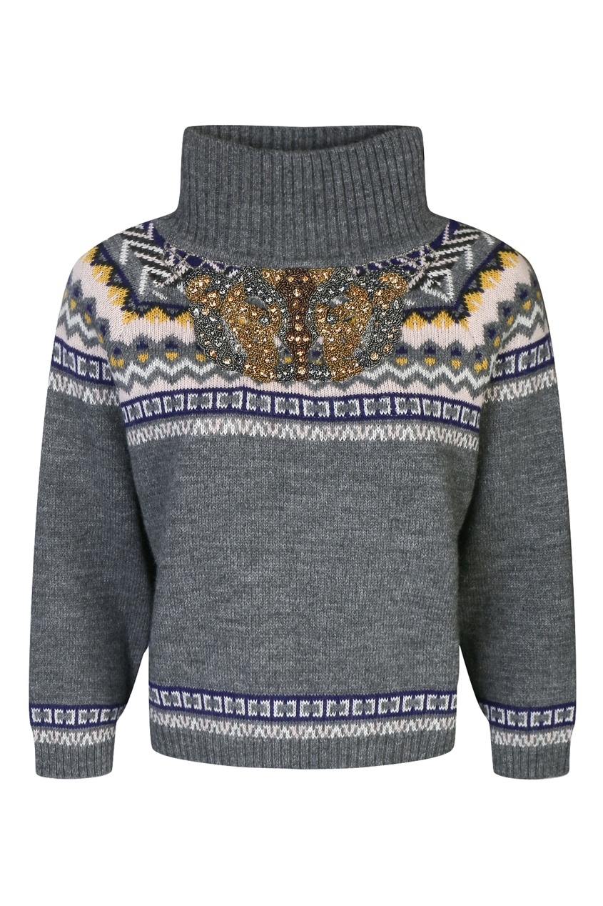 женский свитер moschino, серый