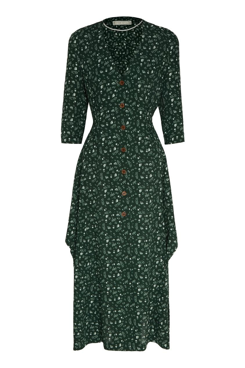 женское платье ulyana sergeenko, зеленое
