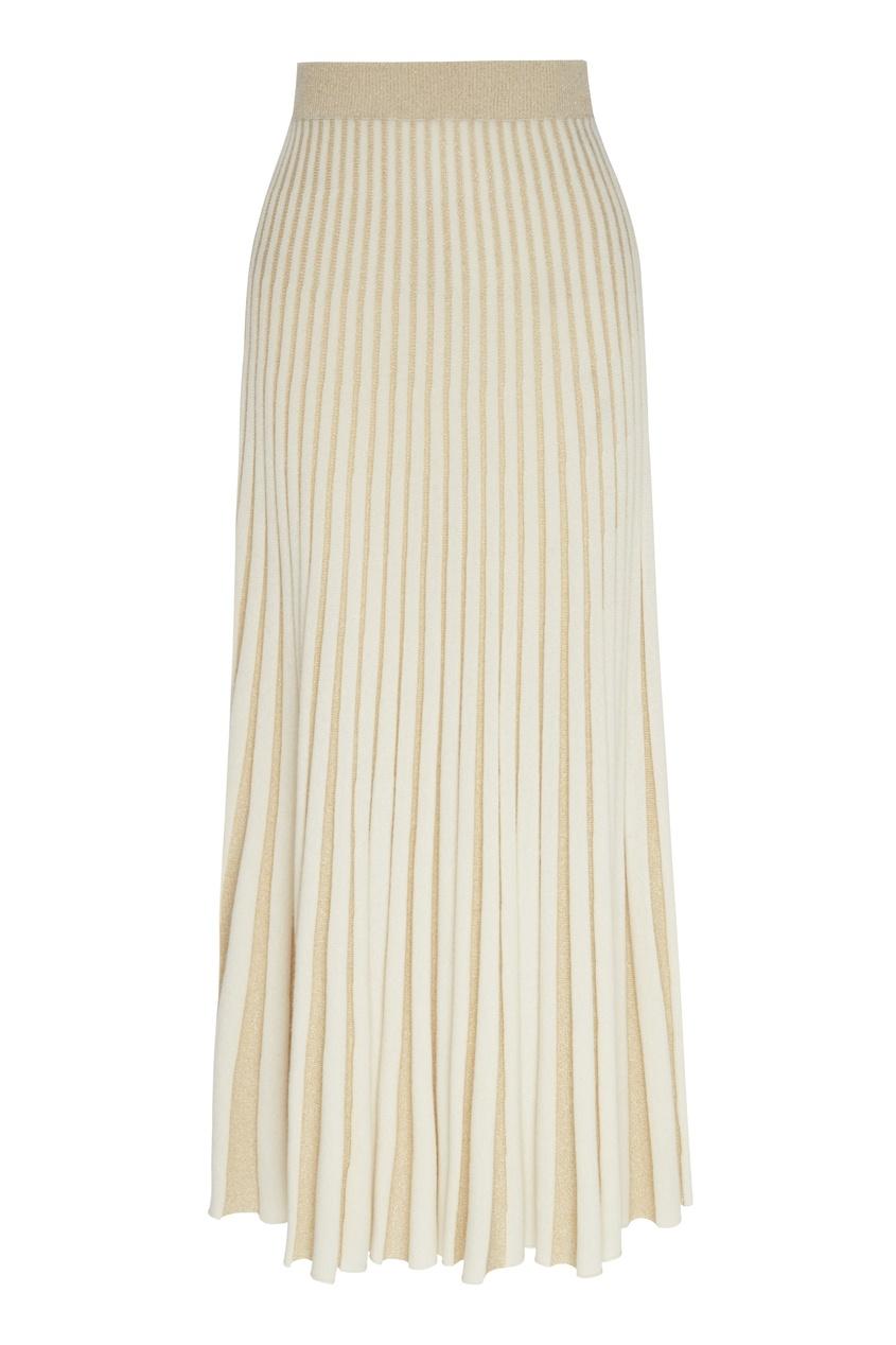 женская плиссированные юбка ulyana sergeenko, белая