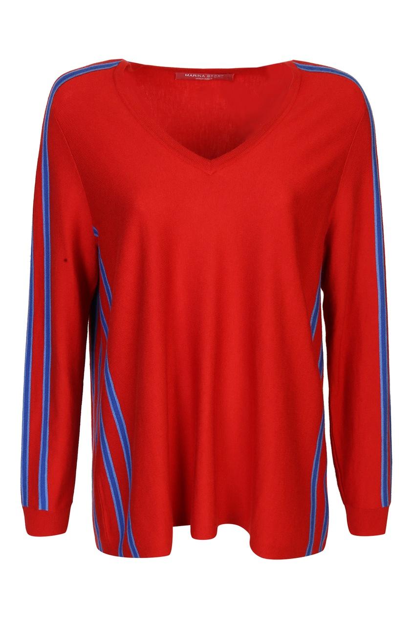 женский пуловер marina rinaldi, красный