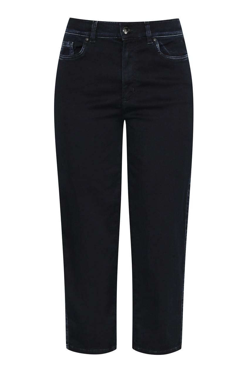 женские укороченные джинсы marina rinaldi, синие
