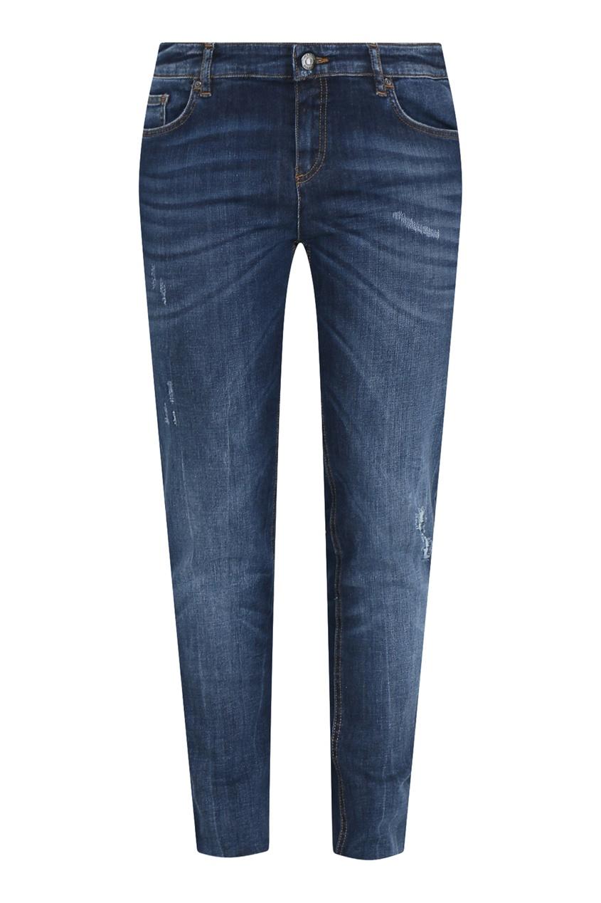 женские потертые джинсы marina rinaldi, синие