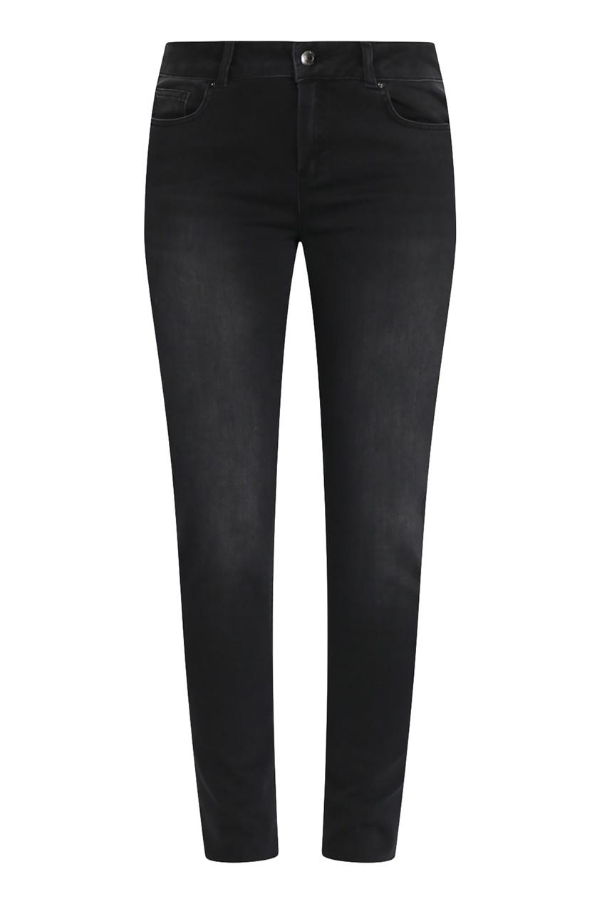 женские потертые джинсы marina rinaldi, черные