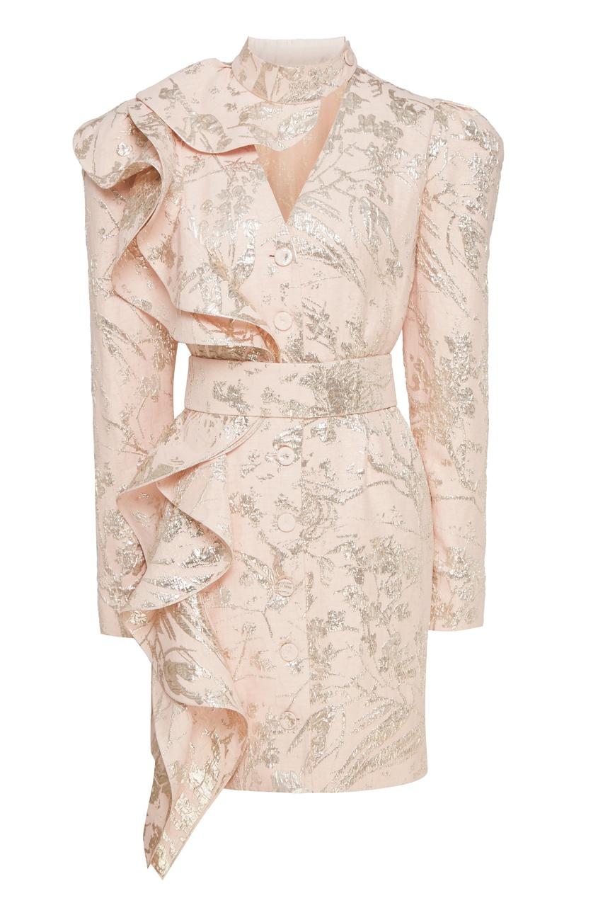 женское платье ulyana sergeenko, розовое