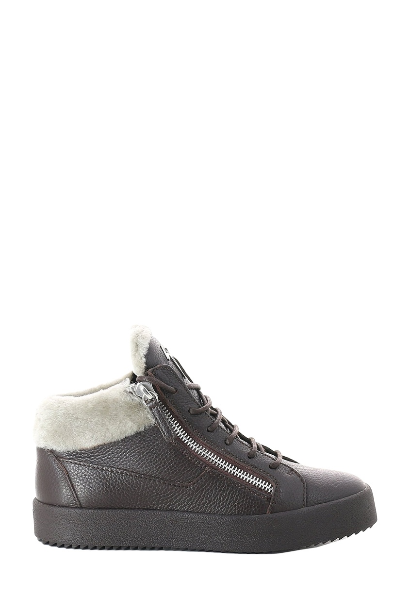 мужские ботинки giuseppe zanotti design, коричневые