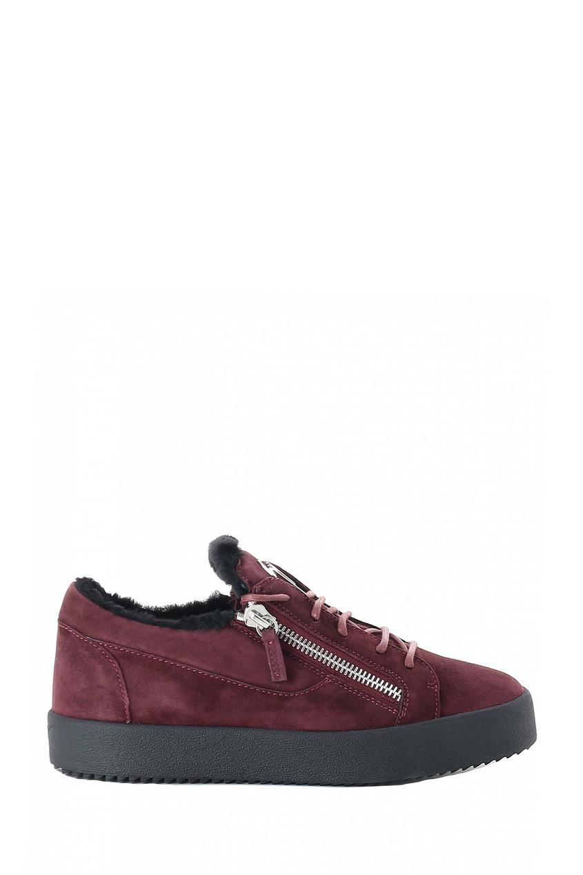 мужские ботинки giuseppe zanotti design, бордовые