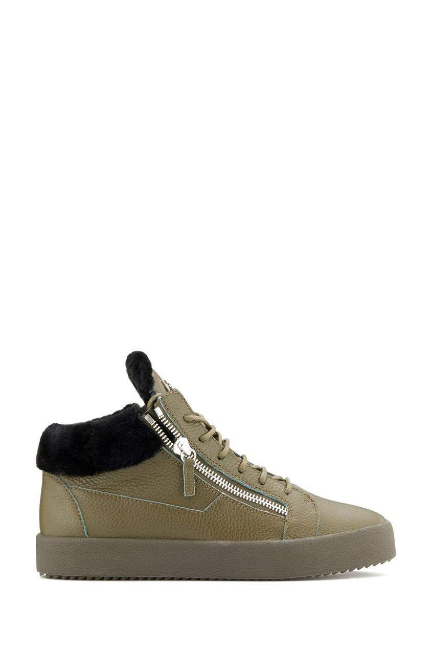 мужские ботинки giuseppe zanotti design, зеленые