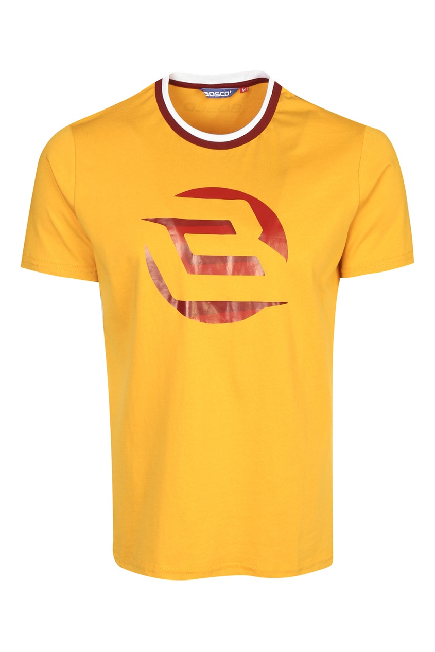 мужская футболка bosco fresh, желтая
