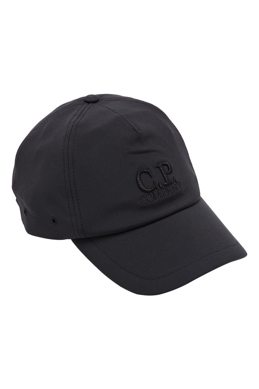мужская бейсболка c.p. company, черная