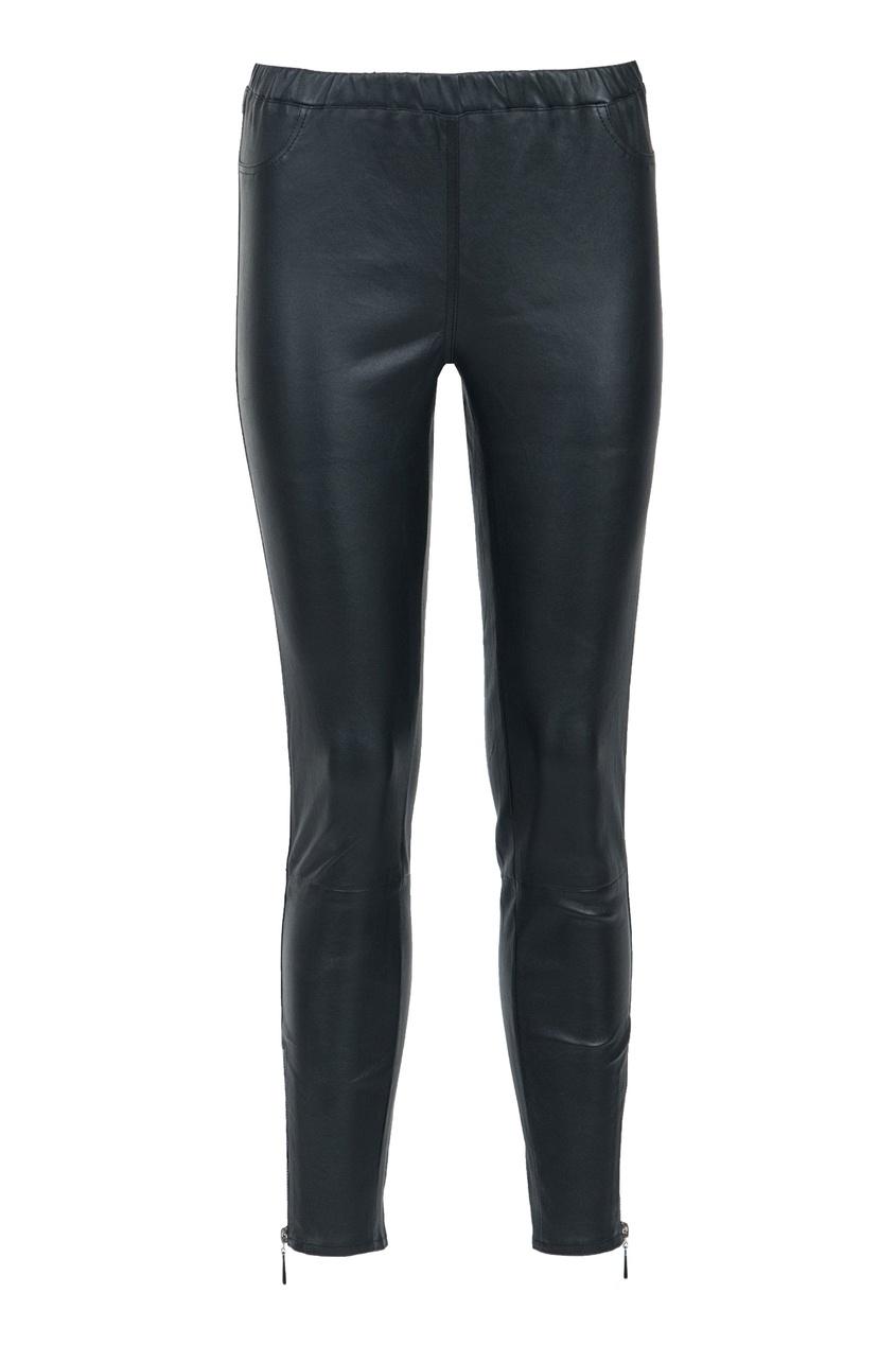 Черные кожаные брюки MAX & MOI