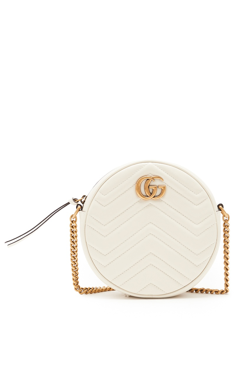 женская мини-сумка gucci, белая
