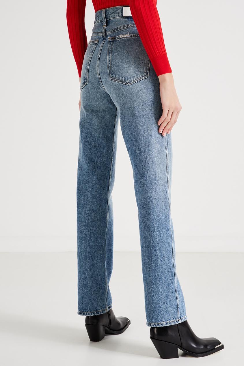 Прямые джинсы с потертостями Re/Done