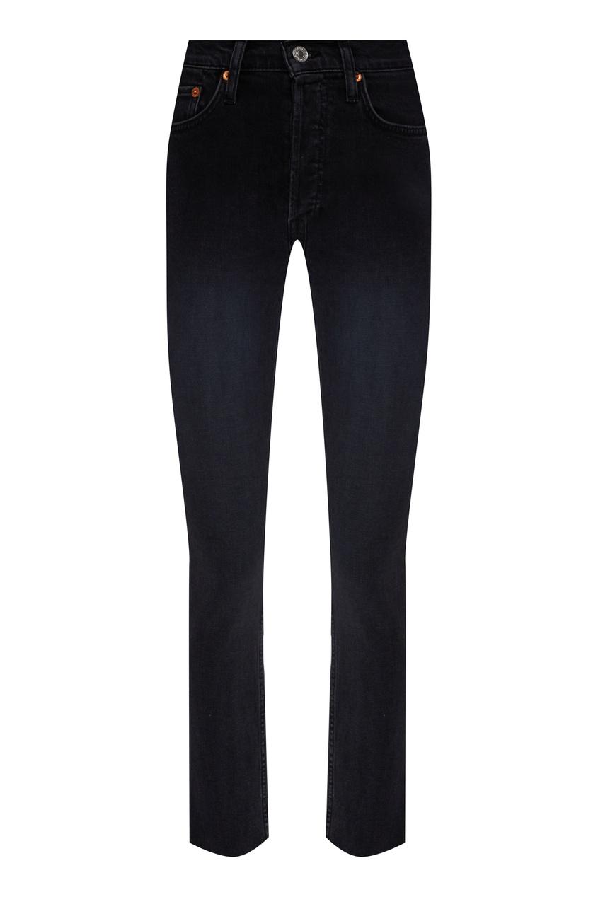 Укороченные черные джинсы скинни Re/Done