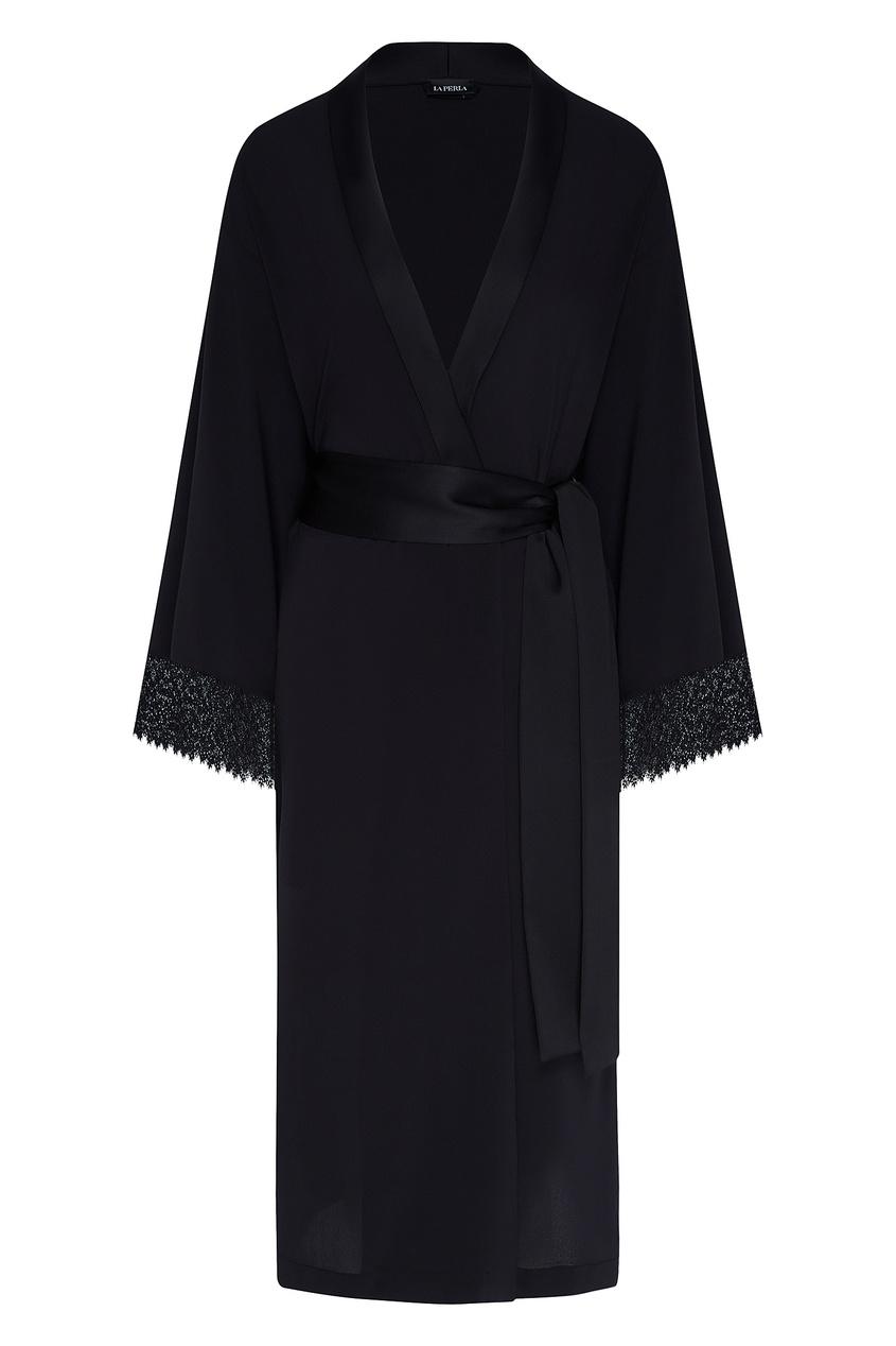 женский халат la perla, черный