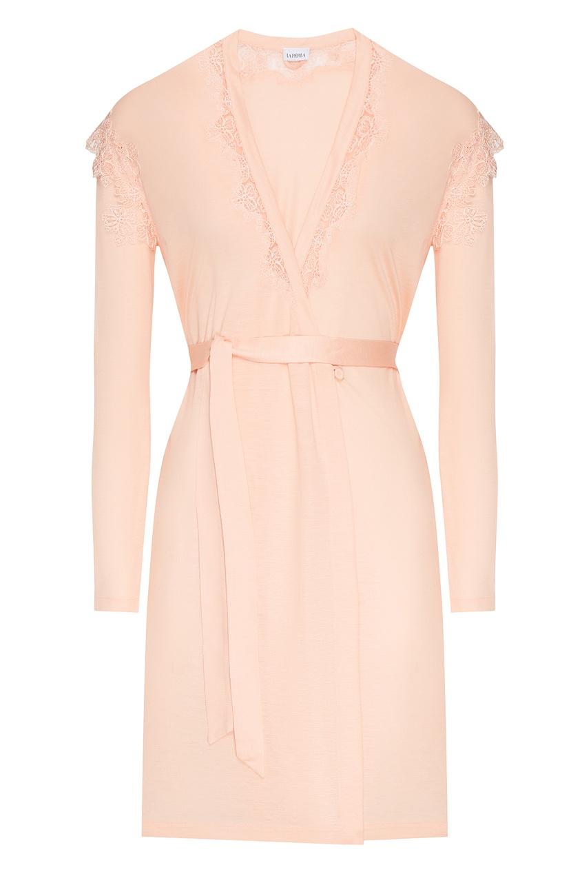 женский халат la perla, розовый