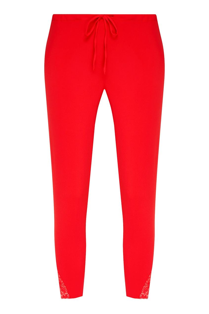 женские брюки la perla, красные