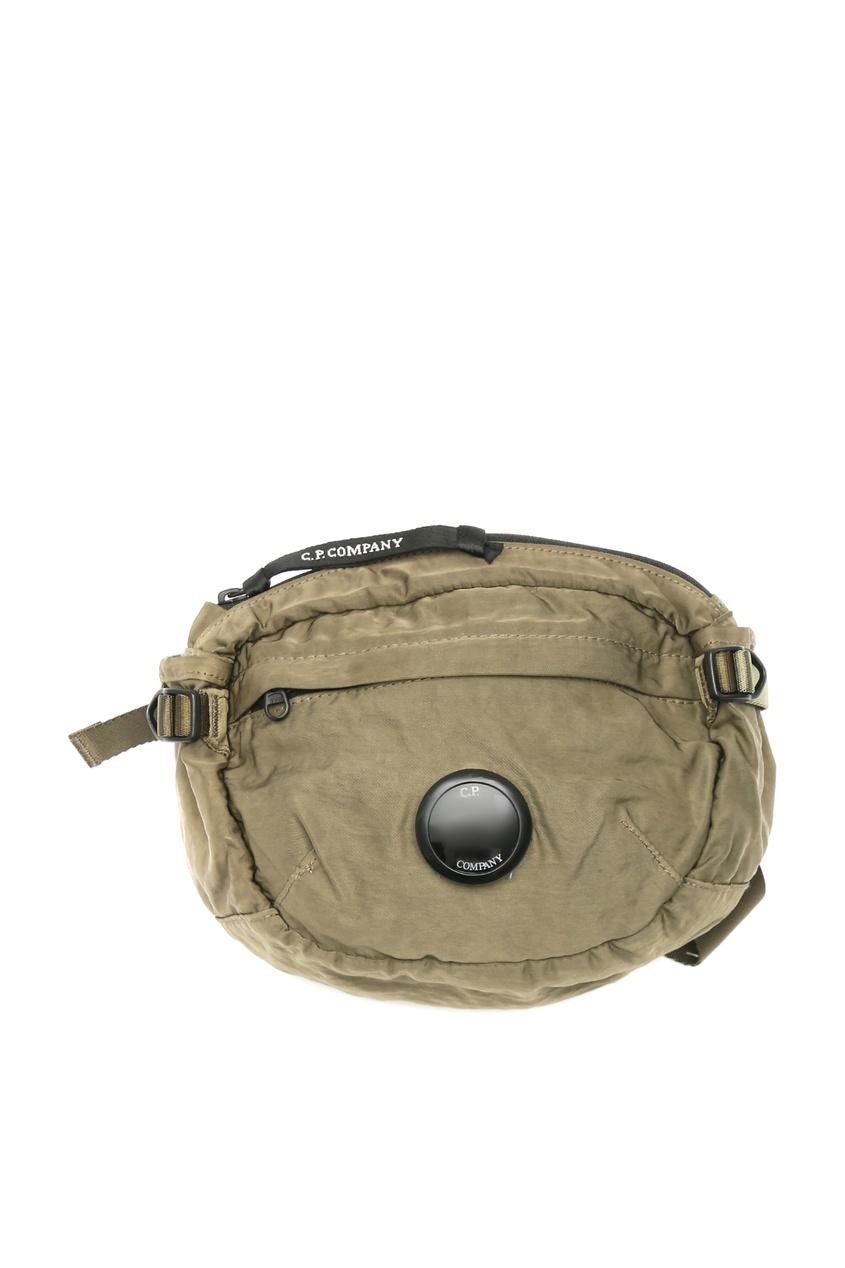 мужская поясные сумка c.p. company, зеленая