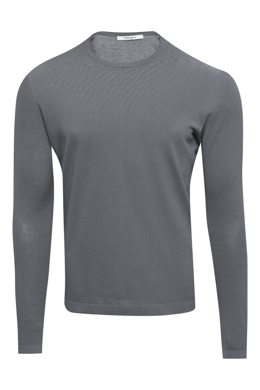 мужской лонгслив kangra cashmere, серый