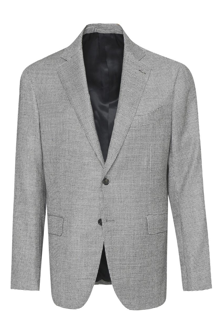 мужской костюм в клетку lardini, серый