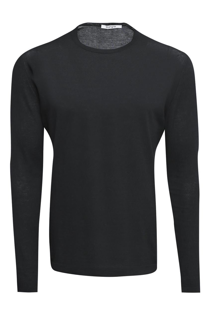 мужской лонгслив kangra cashmere, черный
