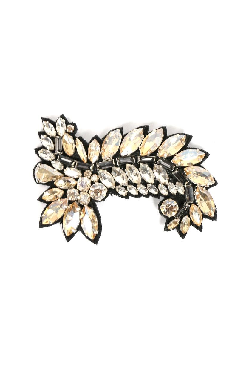 Текстильная брошь с кристаллами от Ermanno Scervino