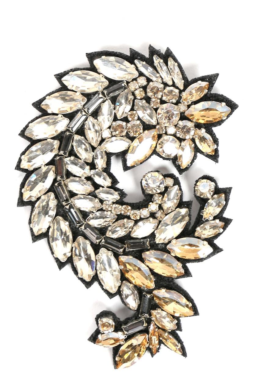 Крупная брошь с кристаллами от Ermanno Scervino