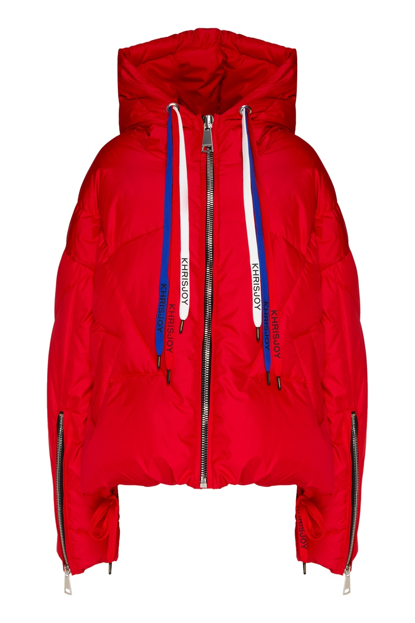 женская куртка стеганные khrisjoy, красная