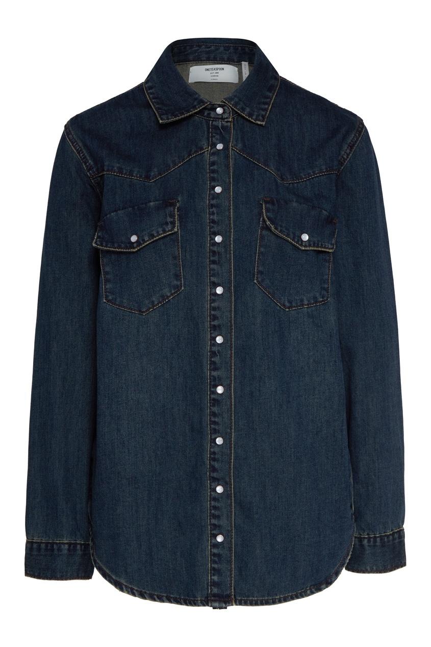 женская джинсовые рубашка one teaspoon, синяя