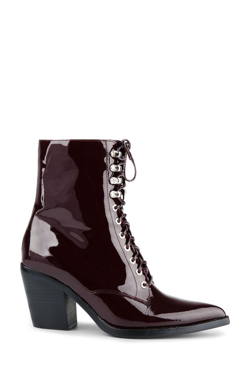 женские ботинки jeffrey campbell, бордовые