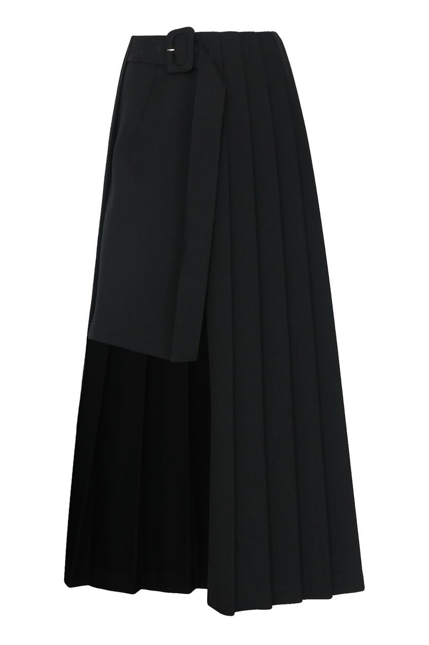 женская шерстяные юбка jil sander navy, черная