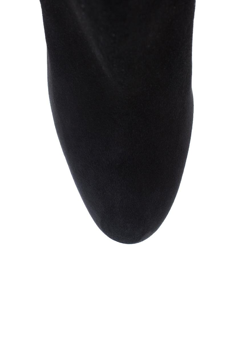 где купить  Christian Louboutin Замшевые ботильоны Miss tack booty 85  по лучшей цене