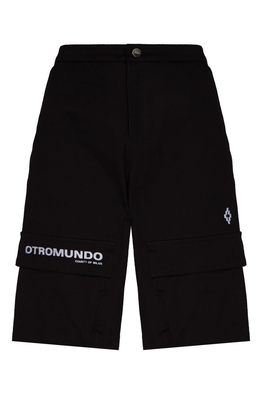 мужские шорты marcelo burlon, черные