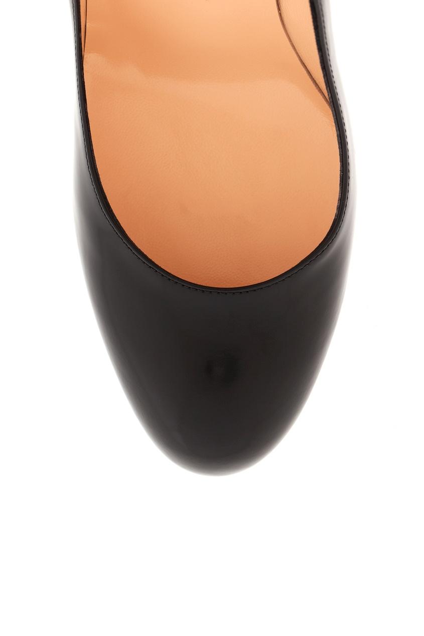 Туфли из глянцевой кожи New Simple Pump 120