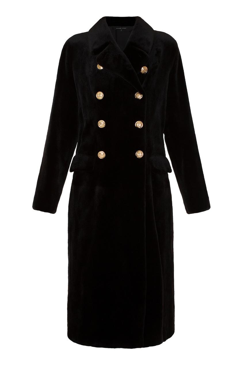 Меховое пальто с двубортной застежкой Alexander Terekhov